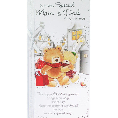 To a Special Mam and Dad Christmas Card
