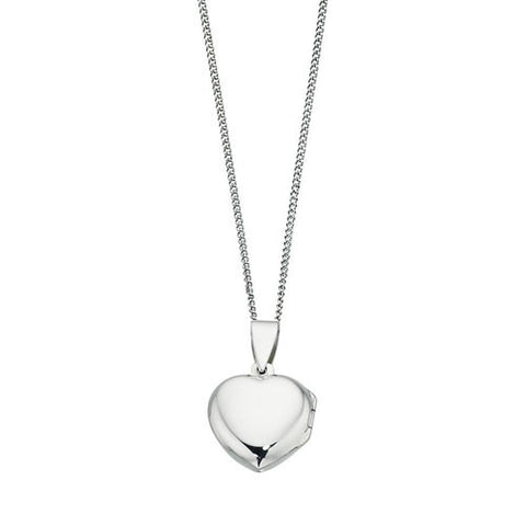 Medium Sterling Silver Heart Locket