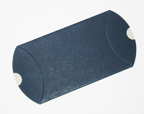 navy blue ribbed pillow pouch