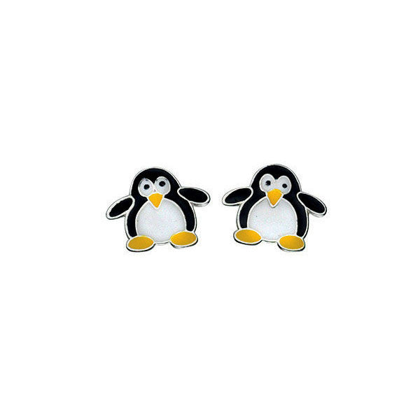 Sterling Silver Penguin Stud Earrings