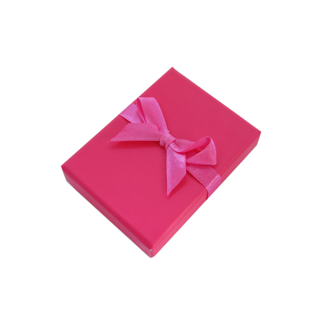Hot Pink Bow Earring and Pendant Box