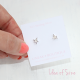 Shooting Star Earrings with Cubic Zirconia