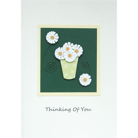 Daisies Thinking Of You Handmade Card