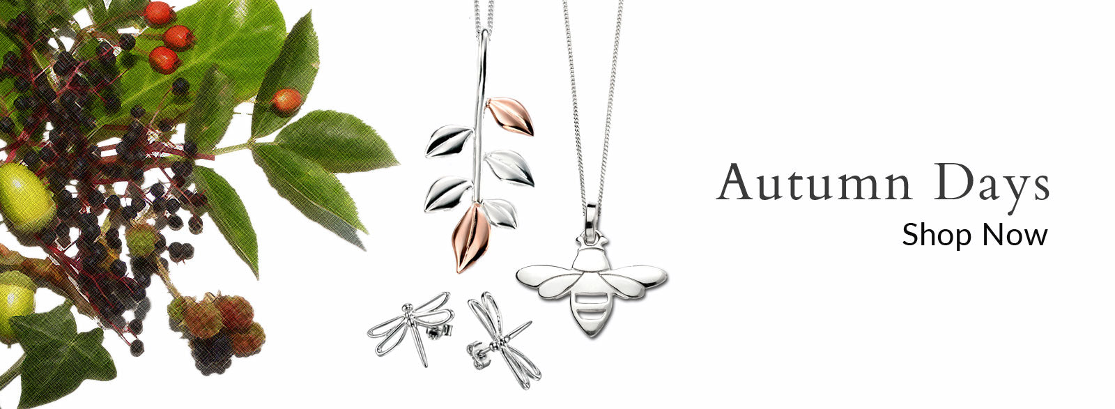 Autumnal Silver Jewellery