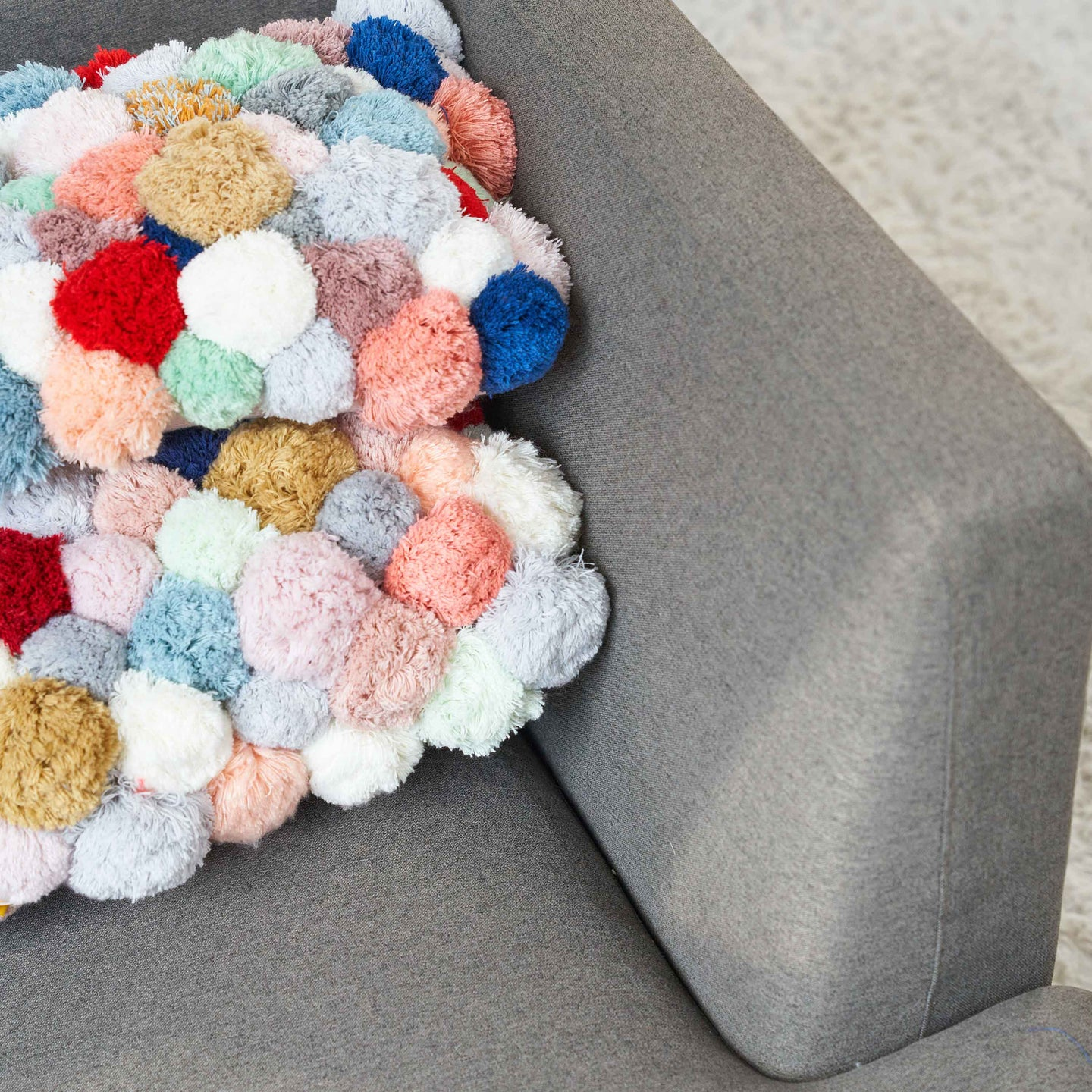 All-Over Pom Pillow