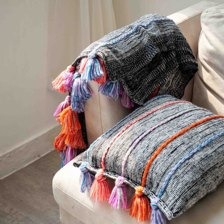 Corded Tassel Throw