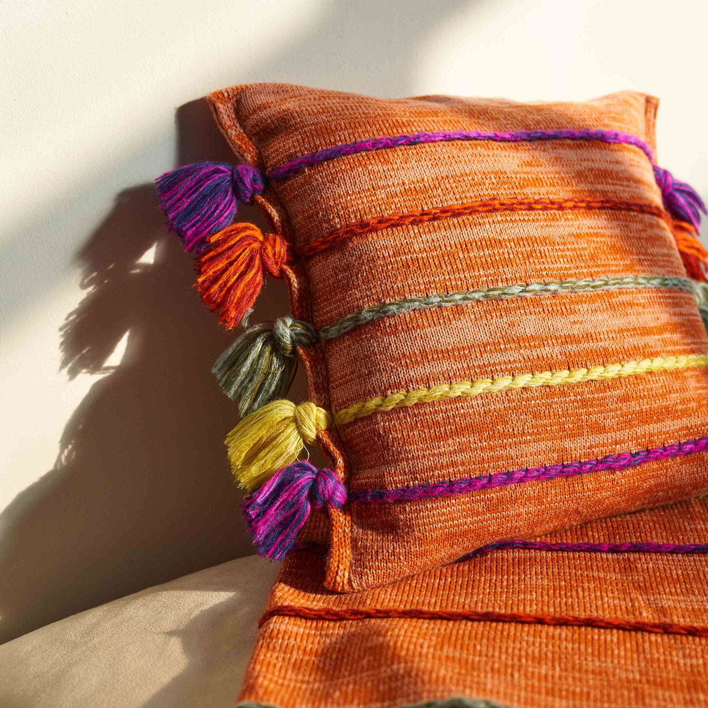 Corded Tassel Pillow Cover