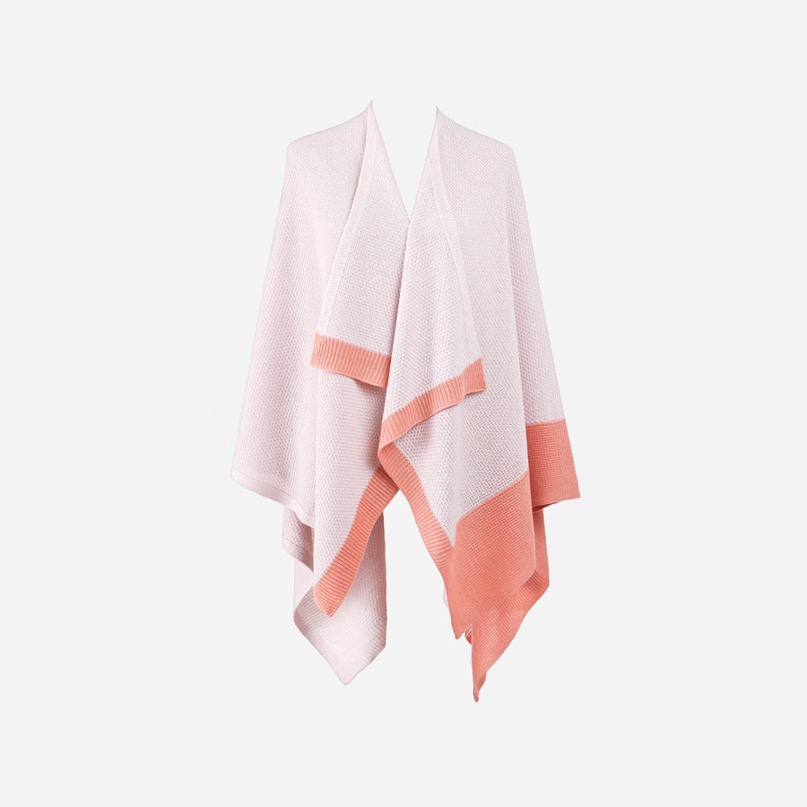 Mineral Pink | Borders Solo Wrap Ruana Poncho