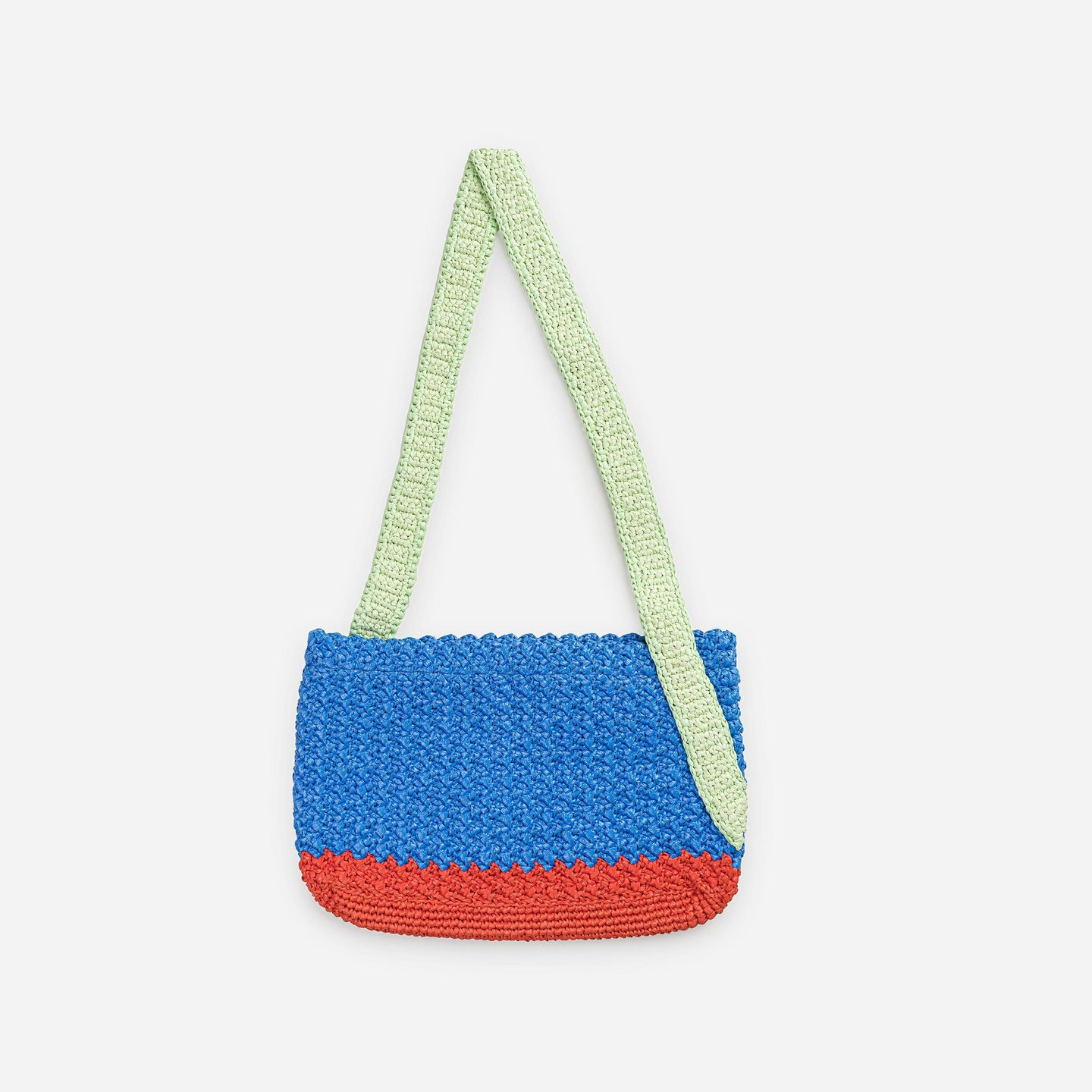 Colorblock Crochet Shoulder Bag