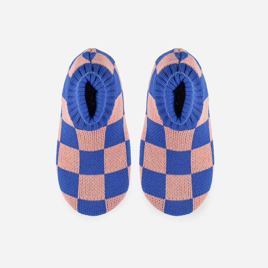 Cobalt Pink | Checkerboard Sock Slipper