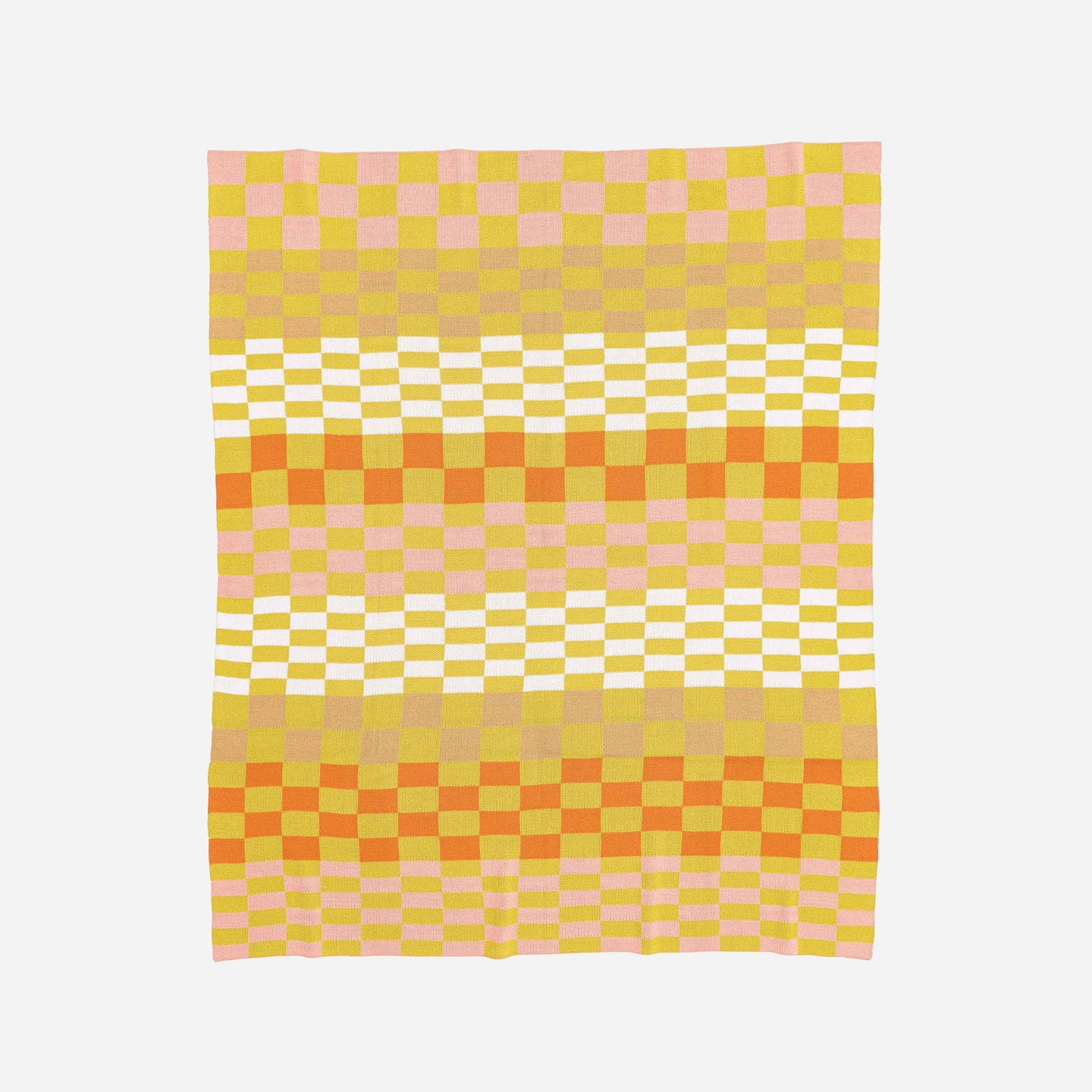 Albers Checkerboard Knit Throw Blanket
