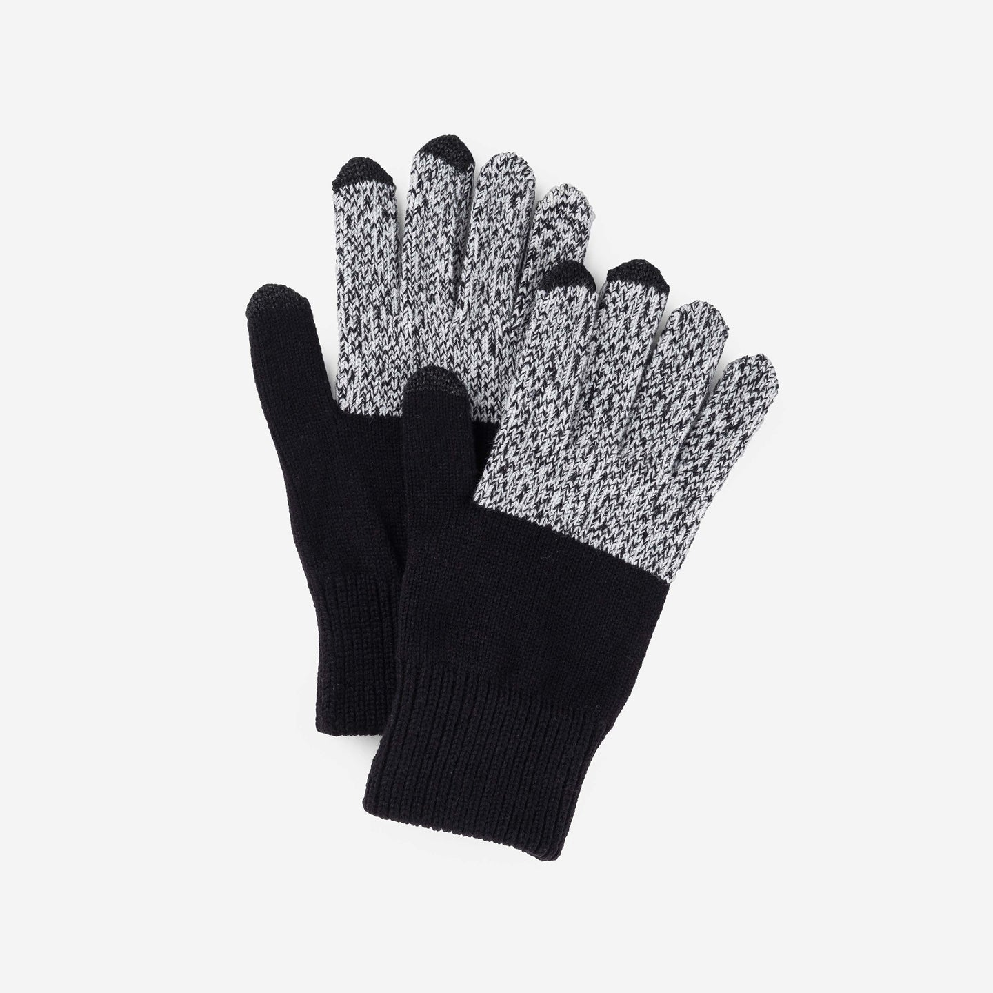 Touchscreen Knit Gloves Classic Stretch Color Block