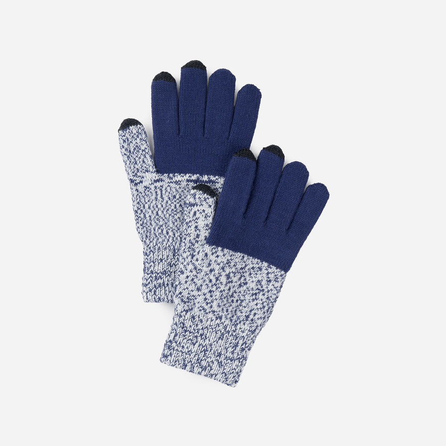 Navy | Colorblock Touchscreen Gloves Sale Stretch