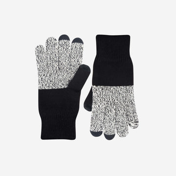 Black Marl | Mens Touchscreen Gloves