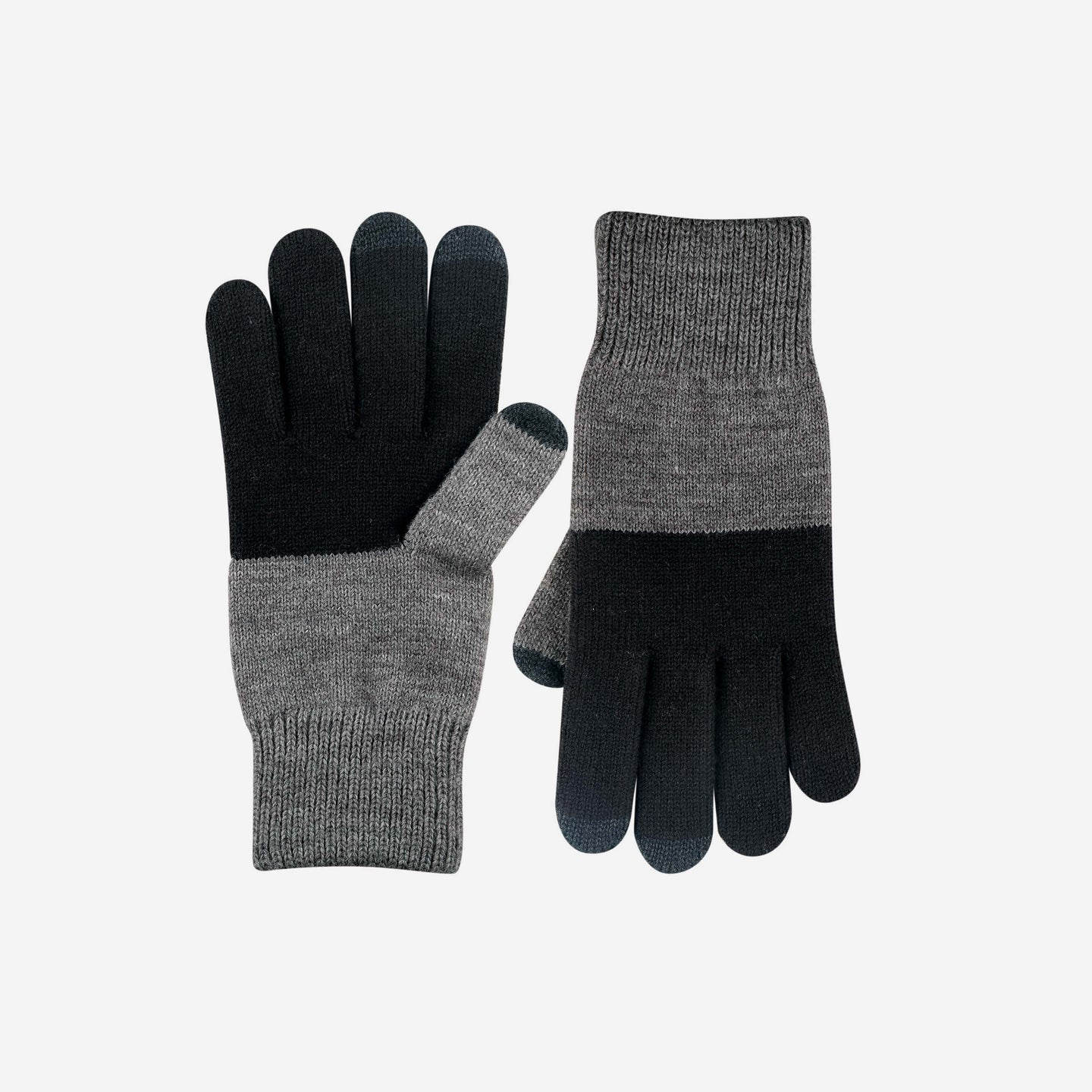 Mens Colorblock Touchscreen Gloves