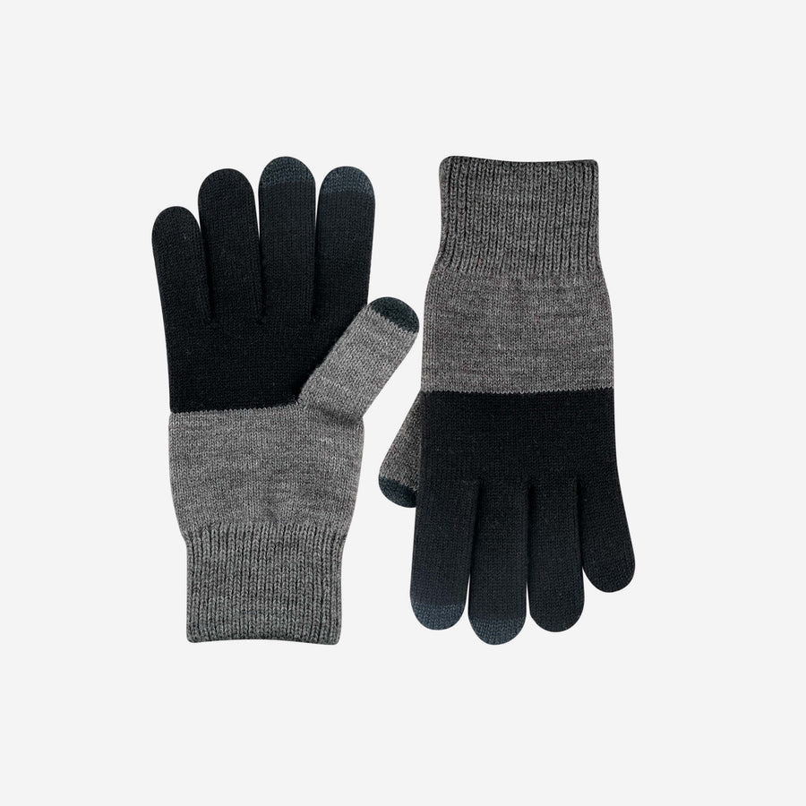 Black | Mens Colorblock Touchscreen Gloves