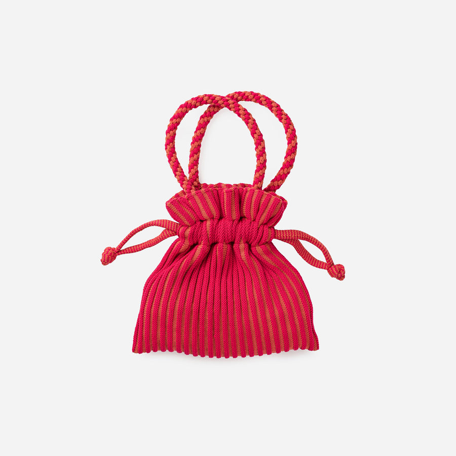 Fuchsia Pink | Candy Stripe Mini Tote