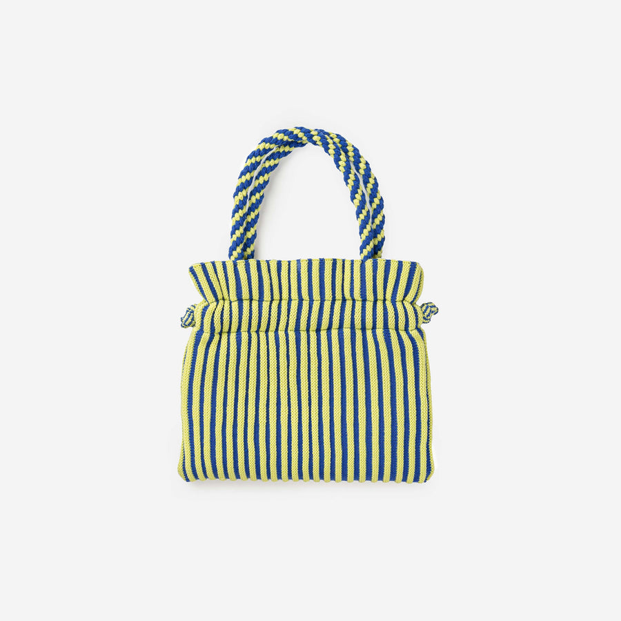 Lime Cobalt | Candy Stripe Mini Tote