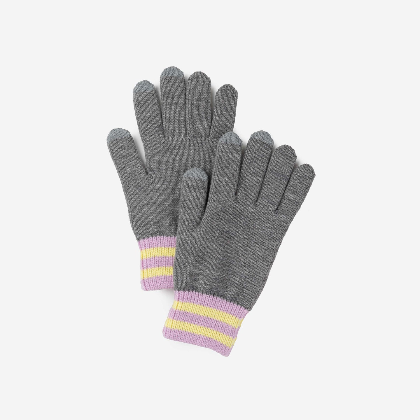 Sporty Stripe Touchscreen Gloves Solid Color