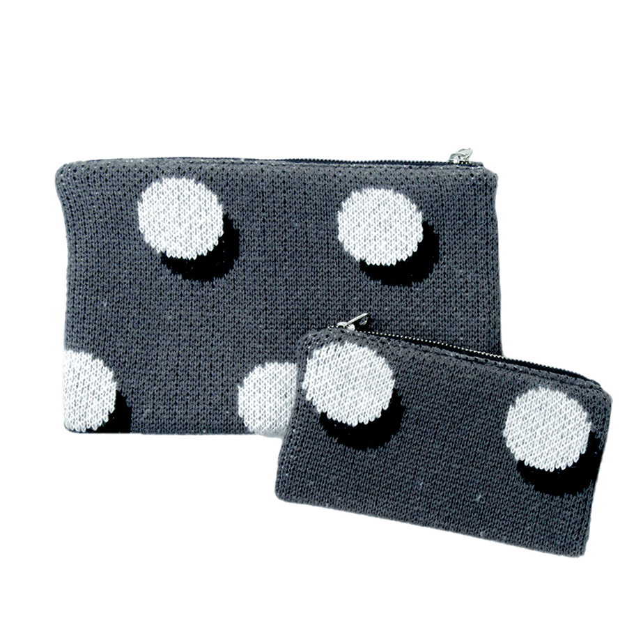 Grey | Eclipse Zip Pouch Set 2 two