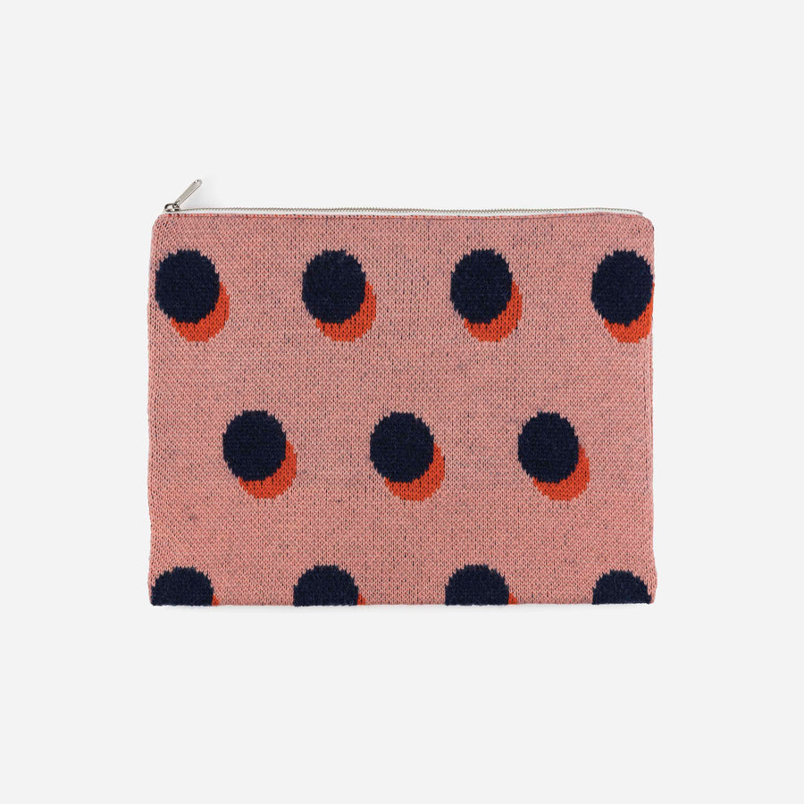 Pink | Eclipse Knit Zip Pouch Repurposed