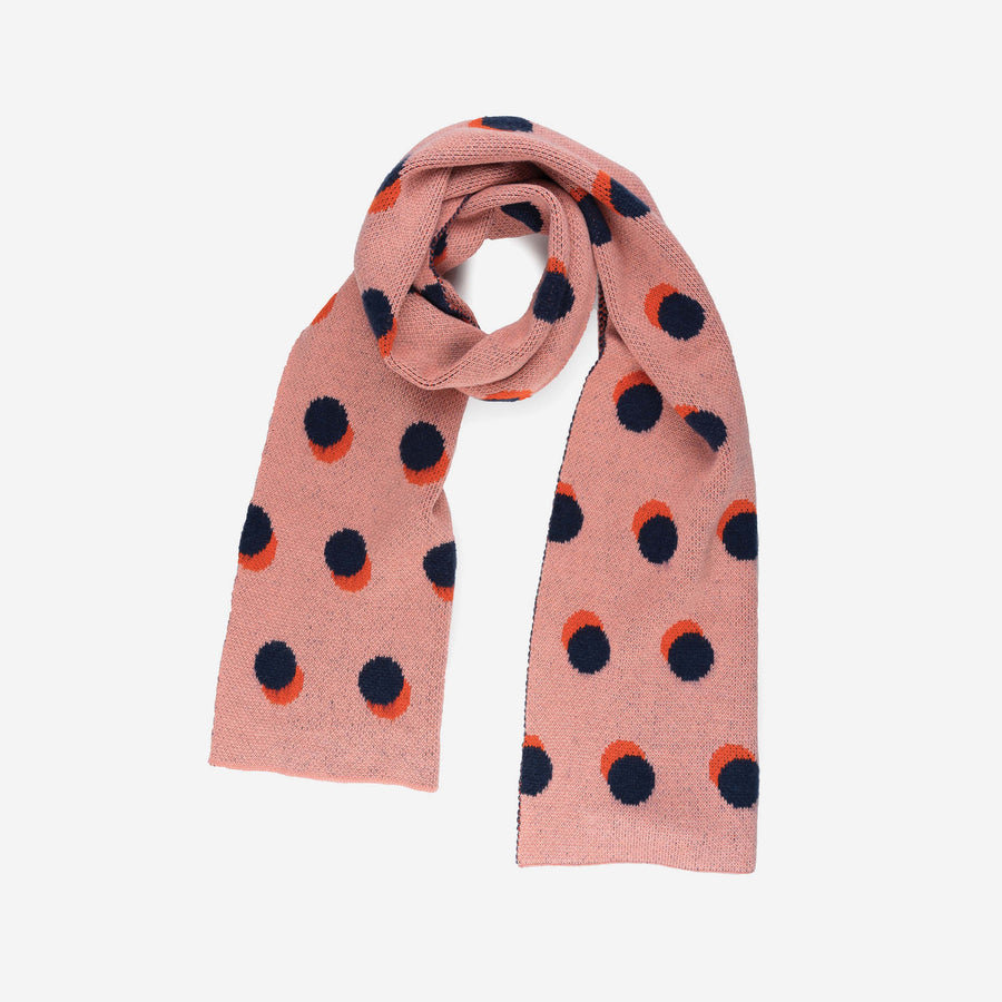 Black Grey | Eclipse Dot pattern scarf polka dot