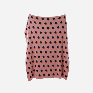 Pink | Eclipse Polka Dot Pattern Knit Throw