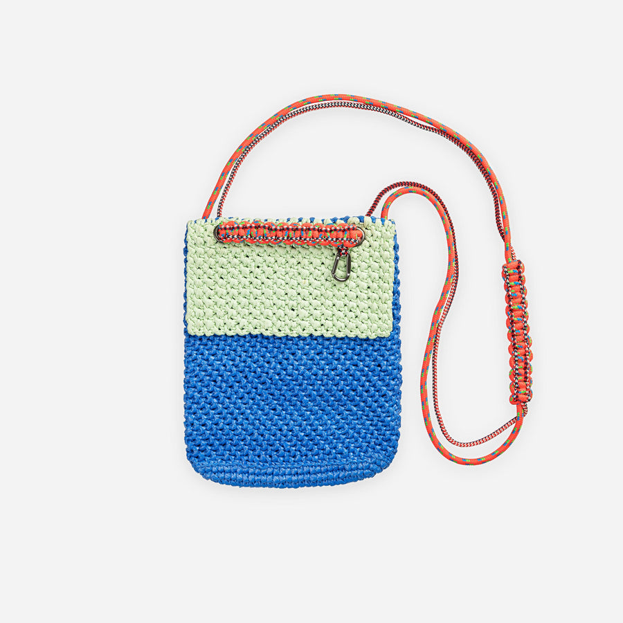 Mint Cobalt | Favela Colorblock Mini Satchel