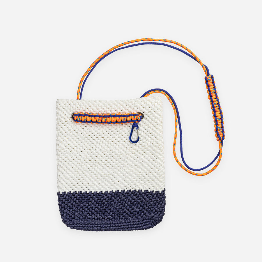 Navy White | Favela Shoulder Tote Bag