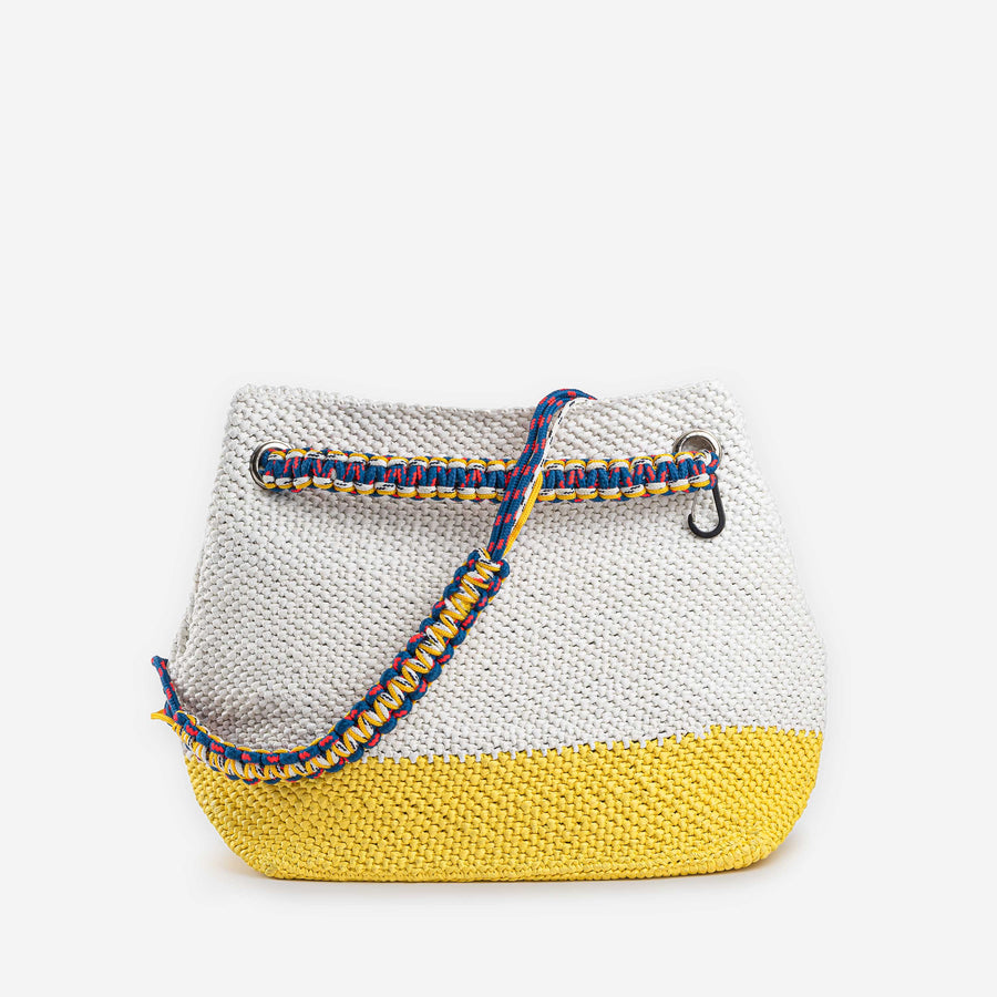 Yellow White | Favela Beach Oversize Bag Tote