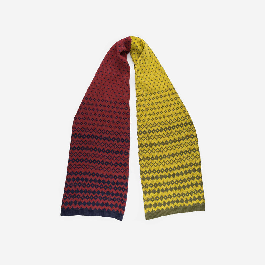 Olive Yellow | Fair Isle Graphic Scarf