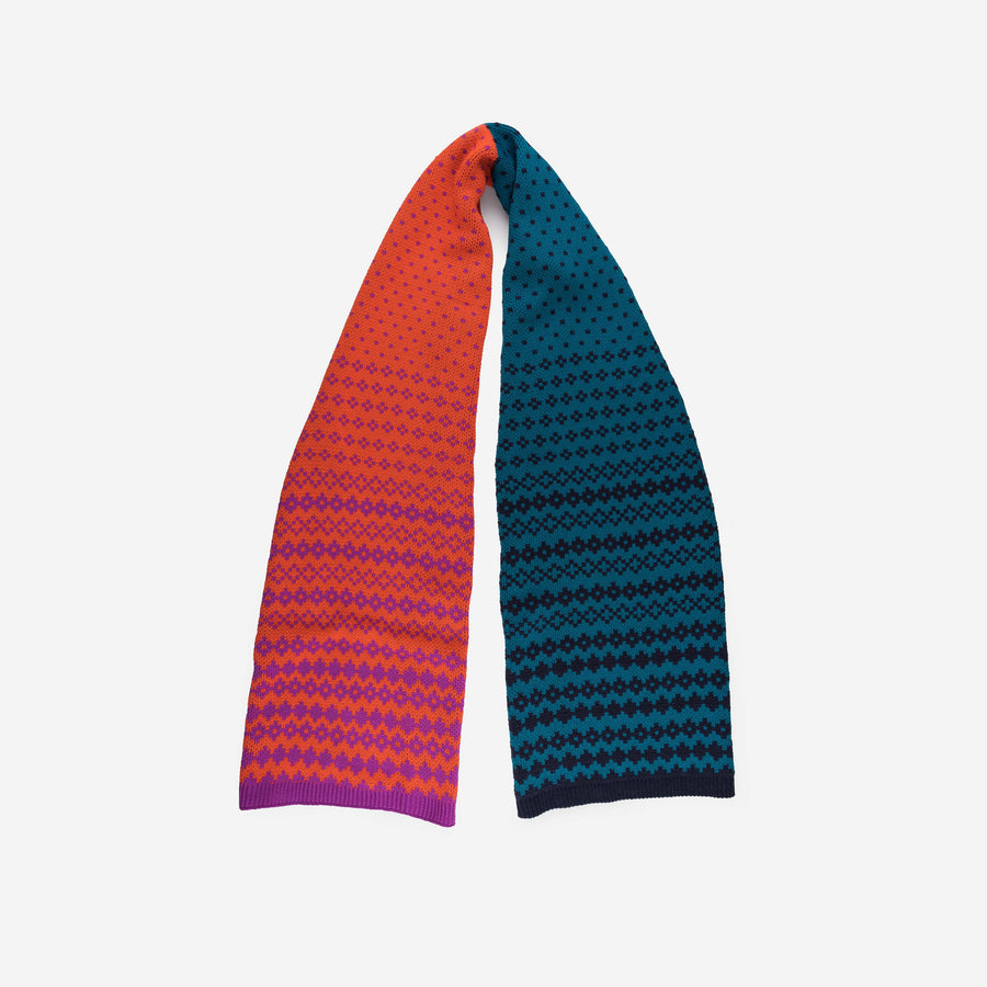 Poppy | Fair Isle Graphic Scarf