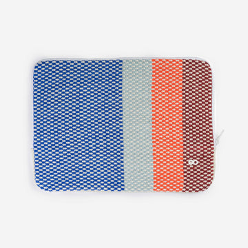 Blue | Folkweave Laptop Knit Padded Zip Case