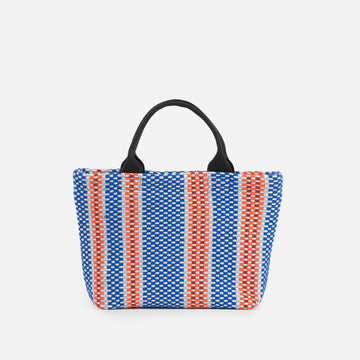 Blue | Folkweave Mini Tote Knit Bag
