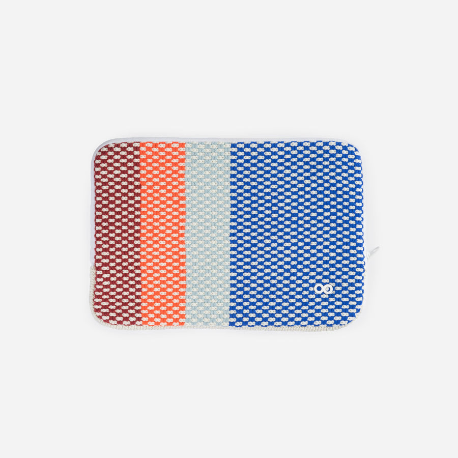 Blue | Folkweave Tablet Ipad Zip Case