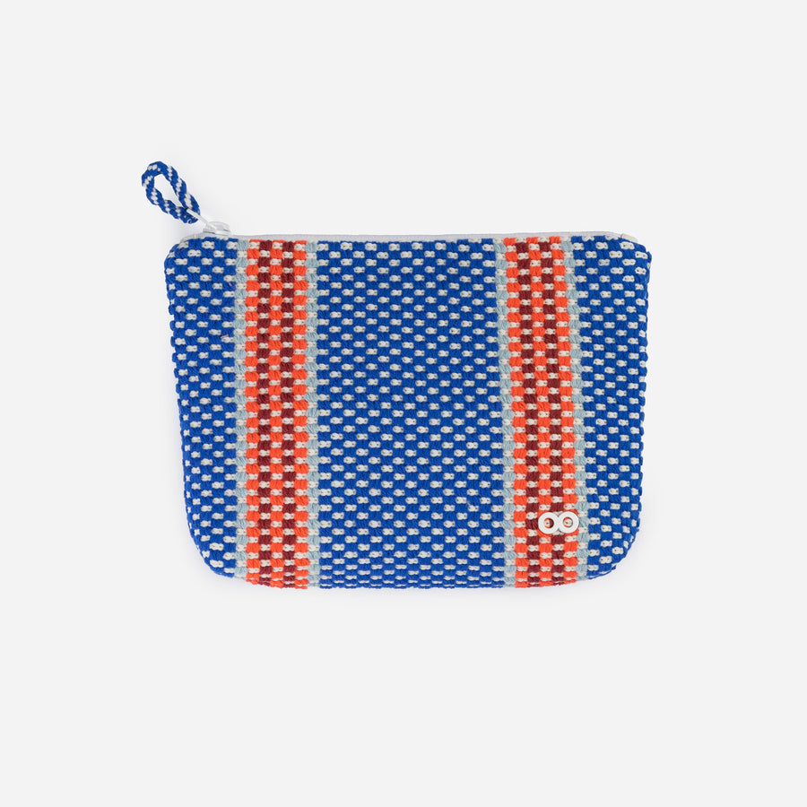 Blue | Folkweave Knit Zip Case