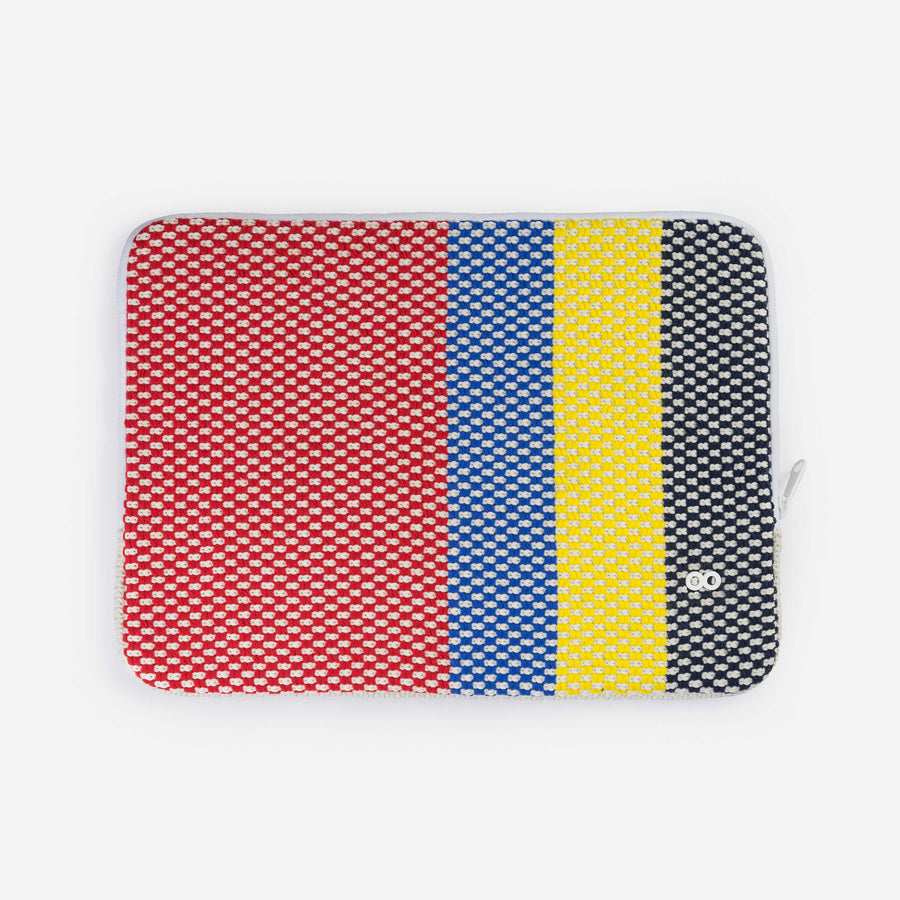 Red | Folkweave Laptop Knit Padded Zip Case