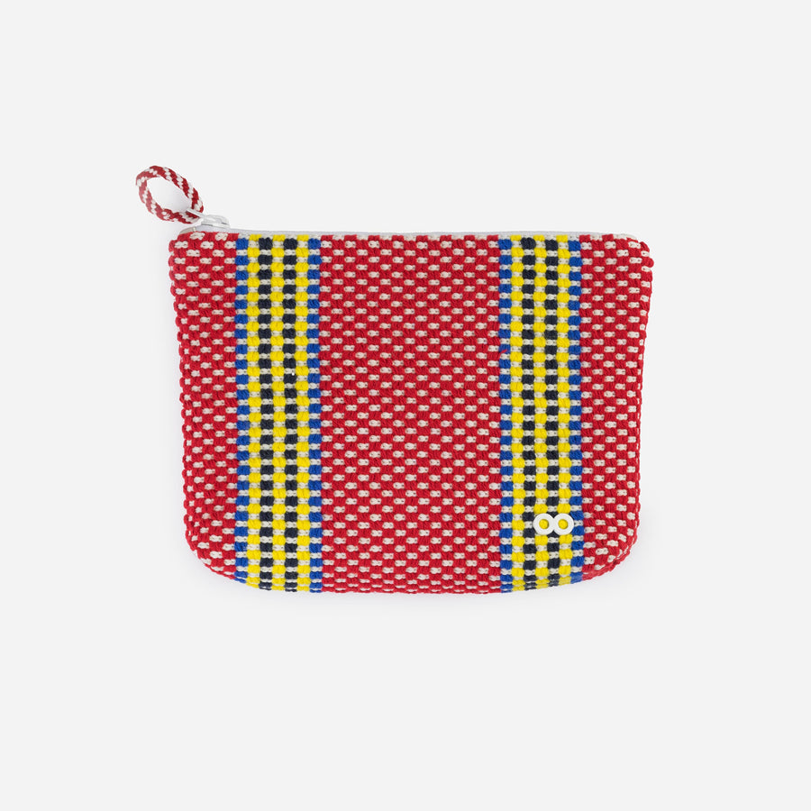 Red | Folkweave Knit Zip Case