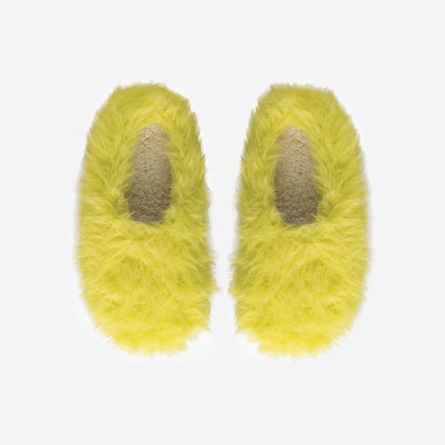 Lime | Faux Fur Fuzzy Hairy Slippers