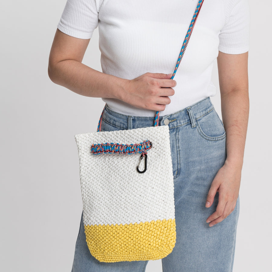 Yellow White | Favela Shoulder Tote Bag
