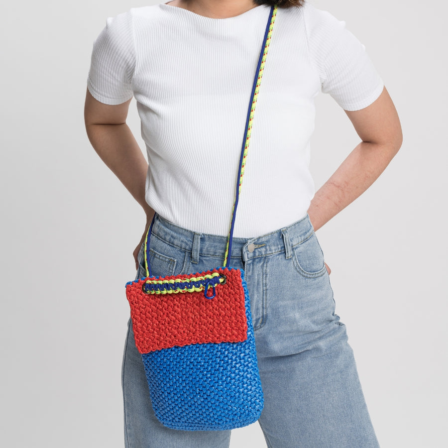 Cobalt Red | Favela Colorblock Mini Satchel