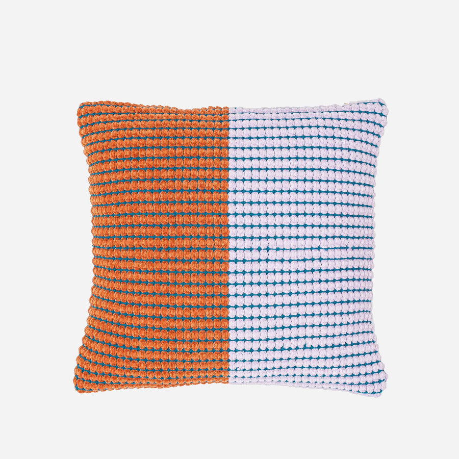 Grid Colorblock Pillow Cover
