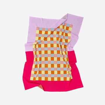 Lilac Fuchsia | Gingham Checkerboard Throw