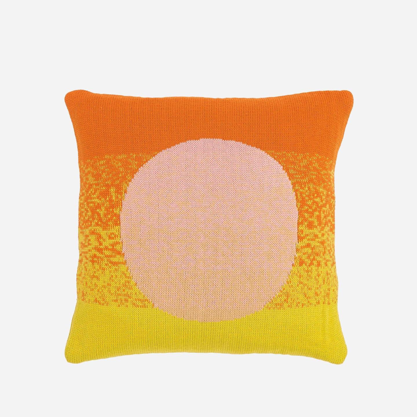 Sunrise Sunset Circle Gradient Ombre Stripe Pillow Case