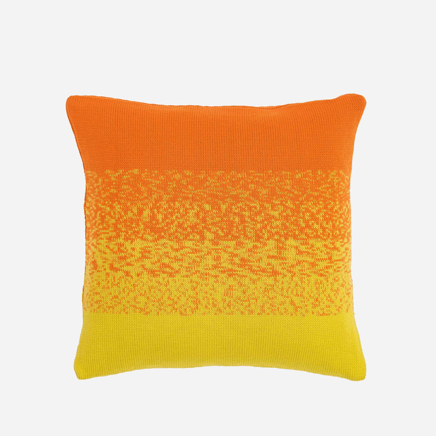 Yellow Pink | Sunrise Sunset Circle Gradient Ombre Stripe Pillow Case