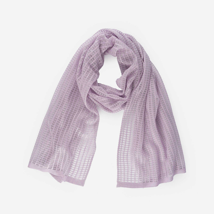 Lilac | Grid Scarf See Through Transparent