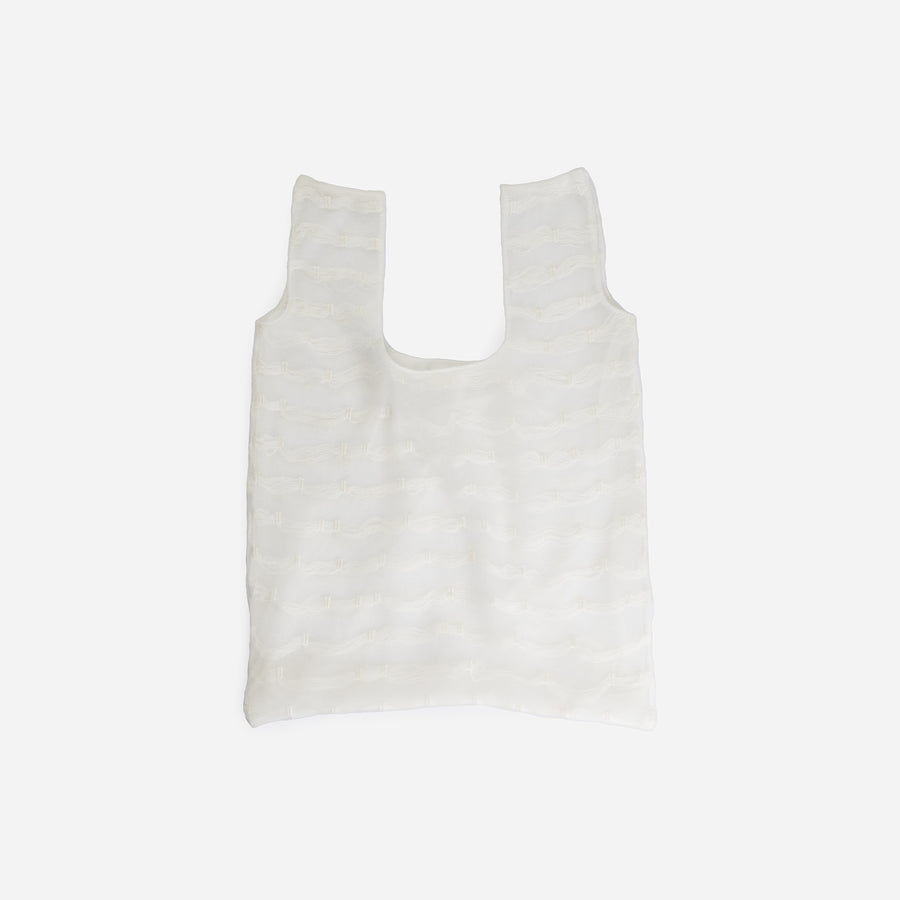 White | Gossamer Layered Shopping Bag