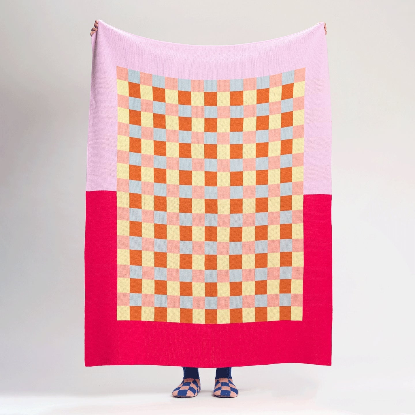 Gingham Checkerboard Throw