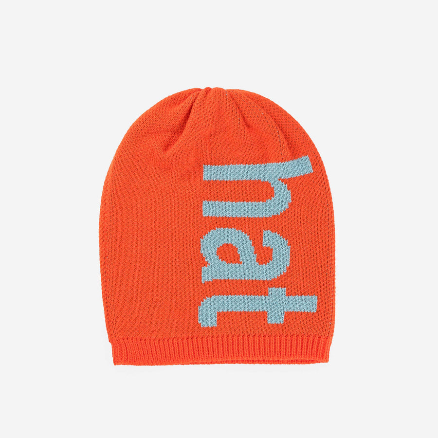 Poppy | Hat Hat Letters Block Knit Typography Knit