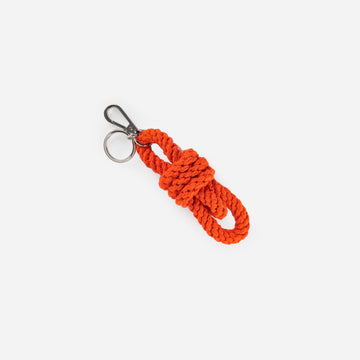 Poppy | Braided Macrame Cord Keychain Hand Made